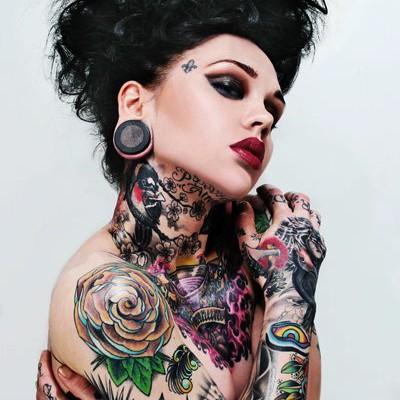 tattooed up smokey eye with red lip Atlanta makeup artist Mimi J