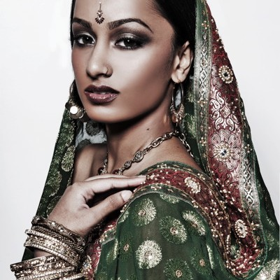 Atlanta indian bridal makeup artist Mimi J Traditional look