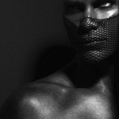 black n white male makeup look makeup artist Mimi J