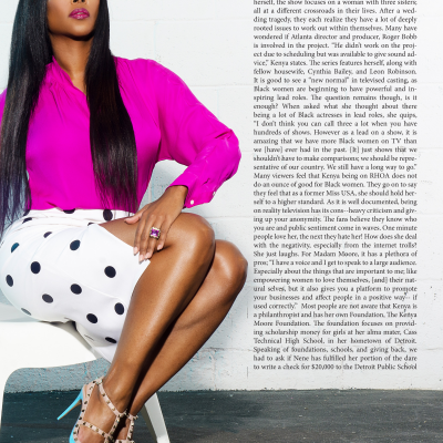 Kenya Moore Kontrol magazine editorial makeup artist Mimi Johnson